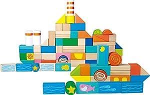 Legler 4333 - Bloques De Construccion De Madera Mundo Marino (100 Pzas)