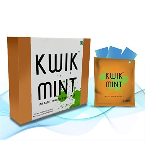 KwikMint - Sugar Free Cool Mint Mouth Freshener Oral Care Breath Strips - Pack of 1 (66 Strips)