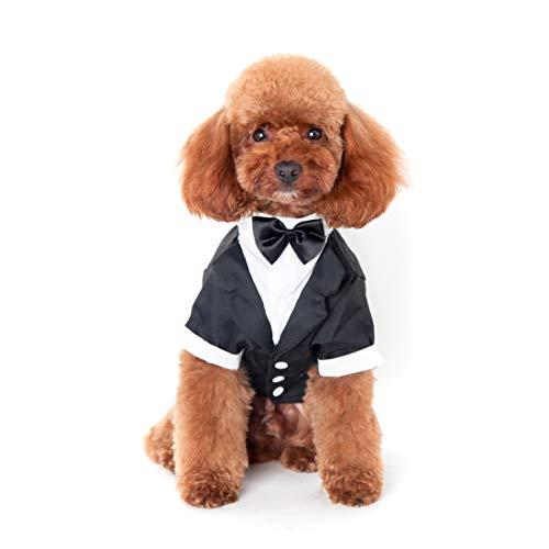 Kostüm Gentleman - Ericoy Haustier Welpen Hochzeitsanzug mit Fliege Small Dog Gentleman Kostüm