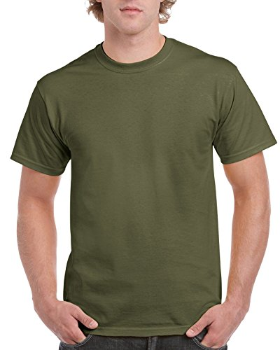 Gildan Shirt Erwachsene Ultra Cotton TM militaire vert
