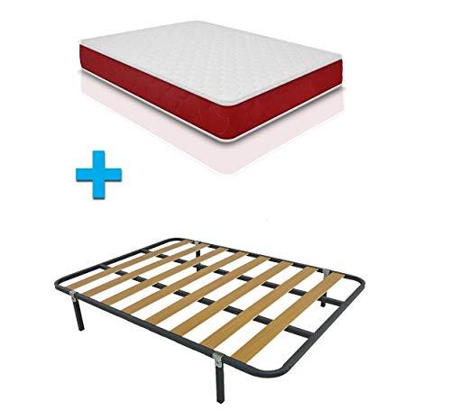 Duermete Cama Completa con colchón viscoelástico viscogel Reversible + somier Basic +...