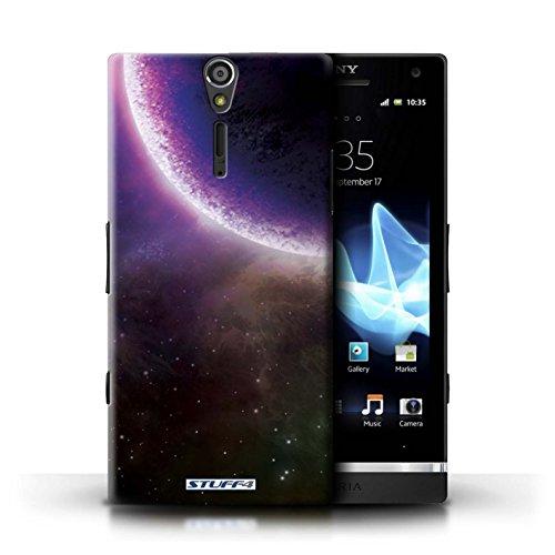 Kobalt® Imprimé Etui / Coque pour Sony Xperia S/LT26i / Planète Verte conception / Série Cosmos Éclipse Pourpre