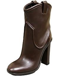 Gucci mujer piel marrón Trish plataforma botas de pista 270515