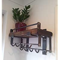 Rustic coat hook, coat rail, coat rack,shelf