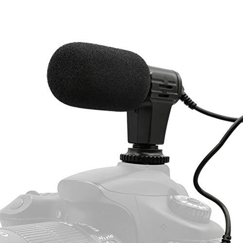 zmigrapddn Universal Mini Tragbares Interview Video Audio Recording Mikrofon Externes Mikrofon für Smartphone Kamera Externes Video