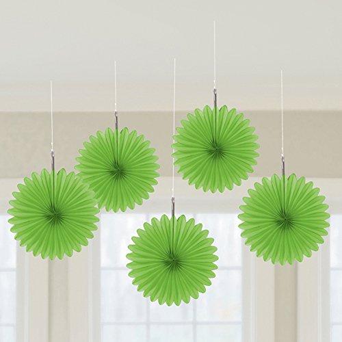 Amscan Mini Fan Dekorationen, grün, Einheitsgröße