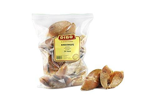 DIBO Rinderhufe, lose, 20 Stück-Beutel, der kleine Naturkau-Snack oder Leckerli für Zwischendurch, Hundefutter, Qualitätskauartikel ohne Chemie