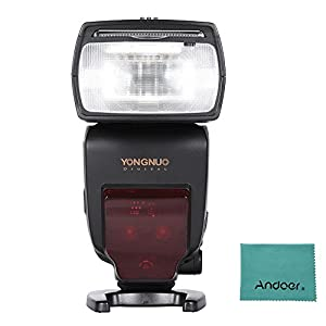 YONGNUO YN685 i-TTL HSS 1/8000s GN60 2.4G Wireless Flash Speedlite Speedlight for Nikon D750 D810 D7200 D610 D7000 D5500 D5200 D5300 D3300 D3200 DSLR Camera w/ Andoer Cloth