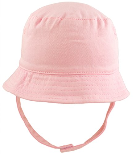 9746779353d Pesci Baby Girls Summer Bucket Sun Hat with Chin Strap (Pink