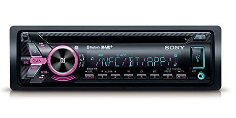 Sony MEXN6002KIT DAB+ Autoradio mit Dual Bluetooth inkl. externem Mikrofon schwarz/mehrfarbig