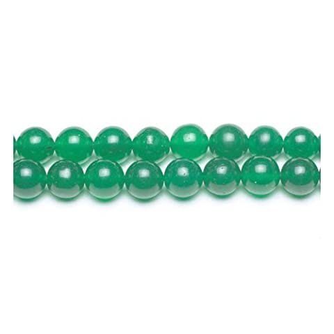 Fil De 45+ Vert Jade Malaisien 8mm Perles Rond - (GS9952-3) - Charming Beads