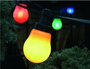 Luci per party 10 m con risparmio di energia 10 lampadine - Cavo con lampadine da esterno ...