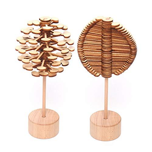 Naisicatar Rotierende Dekomprimierung Lollipop Rotary Relief Bar Spielzeug Zauberstab Stress Relief Spielzeug für Kinder Erwachsene (Burlywood Farbe) Party-Geschenke One-Pack-Holz -