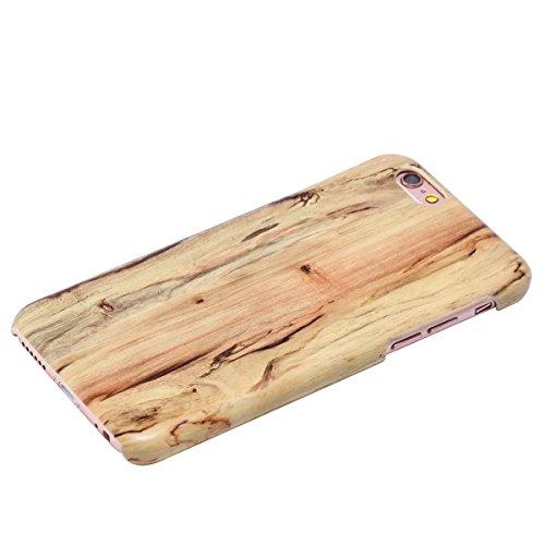 Custodia Cover per iPhone 7, iPhone 7 Case Cover Morbido con Impressionante texture di superficie legno design, Ukayfe Silicone TPU Flessibile Custodia Backcover Case Cover per iPhone 7-Olmo Cenere