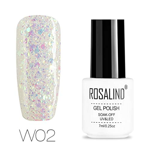 ROSALIND Esmalte semi-permanente de uñas de gel con purpurina de diamante