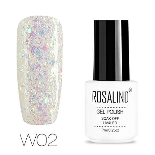 ROSALIND Esmalte semi-permanente uñas gel purpurina