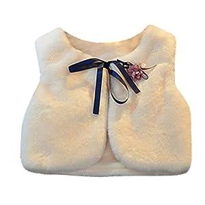 ZHMEI Abrigo para Bebés | Chaleco para Niños Chal Suéter Chaleco Broche Becoration Mantener abrigado Ropa para Niños2-9 años 11