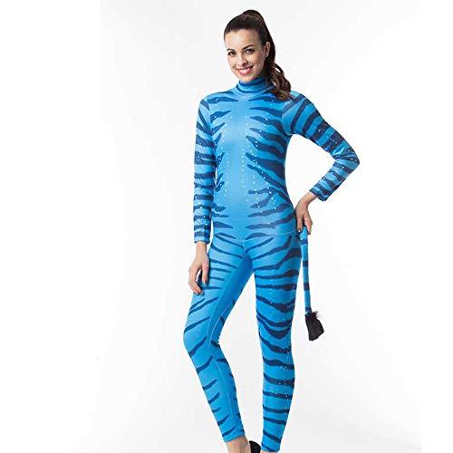 Zebra Kostüm Niedliche - Rollenspiele, kodierte Halloween-Kostüm-Paar-Blaue Zebras verbanden Tierrollenspiel-Kostüm-Leistungs-Kleidung,Female,S