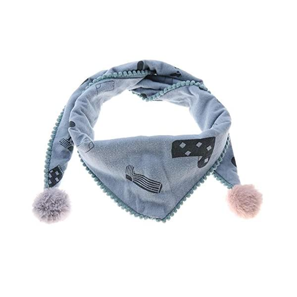 Bufanda de algodón para niños, cómoda bufanda de cuello de triángulo para niños cómoda a prueba de viento transpirable… 1