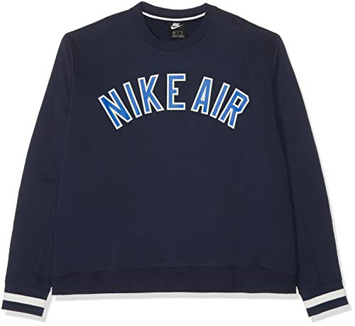 Nike Herren Air Crew FLC Sweatshirt, Obsidian, 2XL