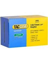 Tacwise 0342 Boîte de 5000 Agrafes galvanisées 10 mm Type 140