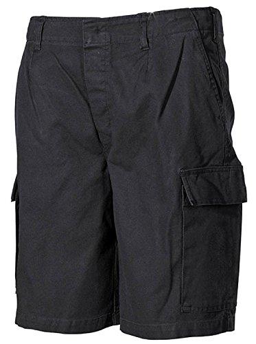 MFH BW Bundeswehr Bundeswehr Typ Moleskin Stonewashed schwarz oder Oliv Bermuda Shorts Gr. Small, schwarz -