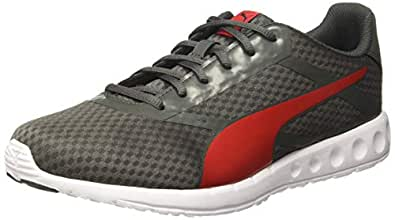 Puma Men's Convex Pro IDP Dark Shadow-High Risk Red Running Shoes-6 UK/India (39 EU) (4060979816145)