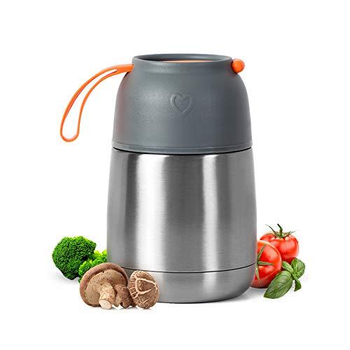 Muhoo contenitore termico per alimenti in acciaio inox, contenitore isotermico 450ml per bevande e cibo