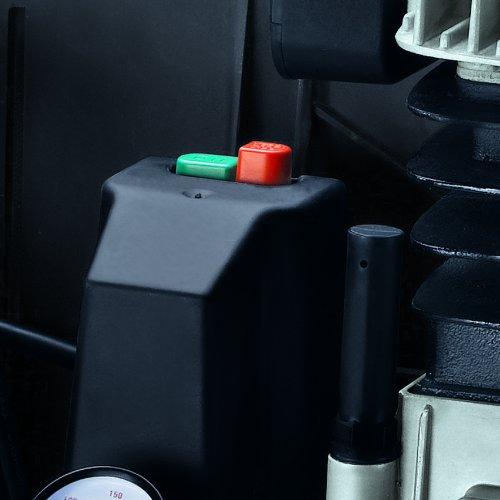 Einhell Kompressor TE-AC 480/100/10 D (3,0 kW, 100 L, Ansaugleistung 480 l / min, 10 bar, ölgeschmiert, Riemenantrieb, große Räder und Haltebügel)