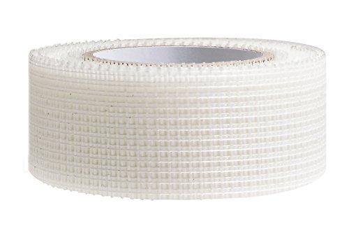 12 x Gitterband selbstklebend - Glasfaserband 100mm x 90m Fugenband mit 75g pro Quadratmeter mit leichter Klebekraft aus reißfestem Glasfasergewebe