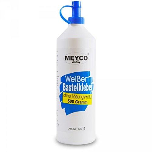 Weisser Bastelkleber 500 g, ohne Lösungsmittel, transparent auftrocknend