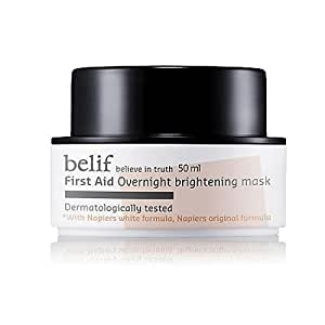 KOREAN COSMETICS, LG Household & Health Care_ belif, First Aid - Overnight Brightening Mask (50ml, healthy complexion, bright skin)[001KR]