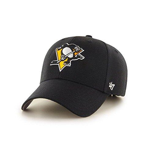Gorra curva negra de Pittsburgh Penguins NHL MVP de 47 Brand - Negro f63be0e03b7