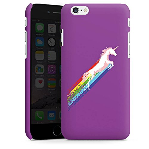 Apple iPhone X Silikon Hülle Case Schutzhülle Einhorn Unicorn Regenbogen Geschenk Premium Case matt