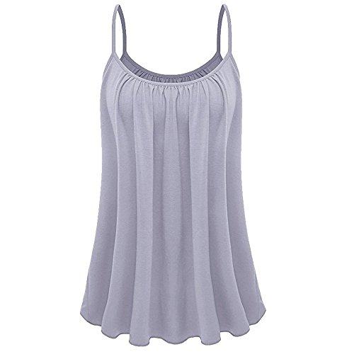 QingJiu Damen Lose ärmellose Damen Plus Size Einfarbig Cami Basic Camisole Unterhemd Tank Top Weste Wams