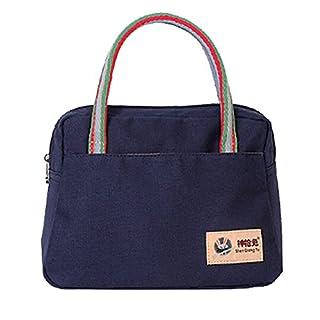 AUBIG Casual Womens Ladies Beach Swimming Handbag Canvas Tote Hand Bag - Blue