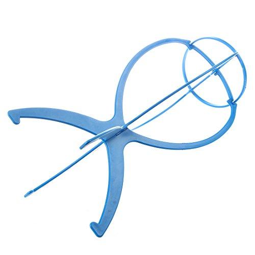 SODIAL(R) Support Porte Perruque Postiche Cheveux en Plastique Bleu