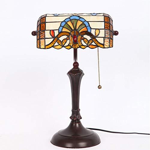 WZJ-TISCHLEUCHTE Amerikanische Retro Studie Schreibtischlampe Bank Lampe Schlafzimmer Bedside Porch Loft Lights -