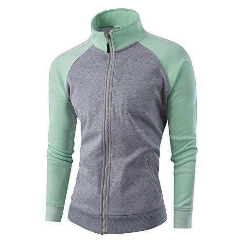 Quaan Men Sport Outwear Warm Casual Zipper Jumper -