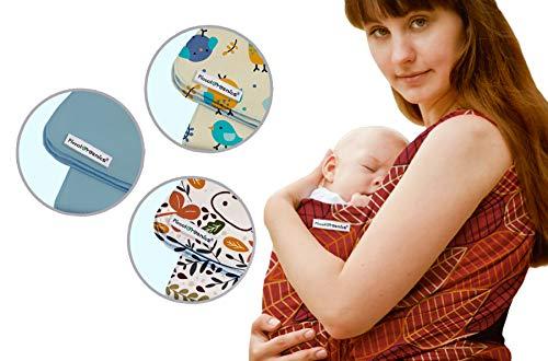 PiccolOrganics, Fular Portabebe Ergonómico Organico - GOTS, Mochila Ergonomica Porteo Bebe   Foulard Portabebes Recién Nacido Bebé y Niño Verano e Invierno   Sling Wrap con Evaluación de Seguridad