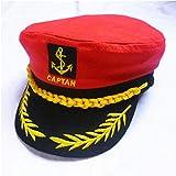 Gorra capitán hombres mujeres negro blanco - Disfraz para Adultos y Niños - Perfecto para Carnaval - Talla única (B)