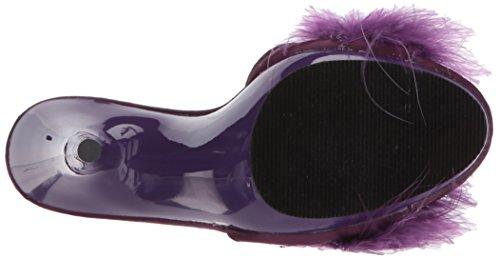 Fabulicious POISE-501F Purple Satin-Marabou Fur/Purple