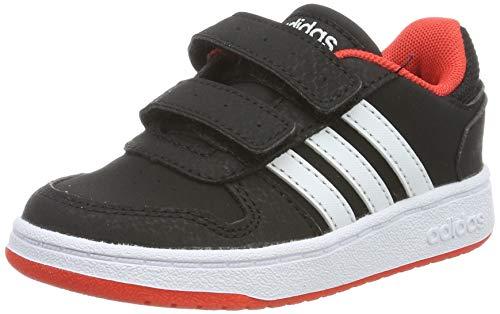 adidas Unisex-Kinder Hoops 2.0 Fitnessschuhe, Schwarz (Negbás/Ftwbla/Roalre 000), 26.5 EU - Kleinkind Jordan Schuhe Jungen