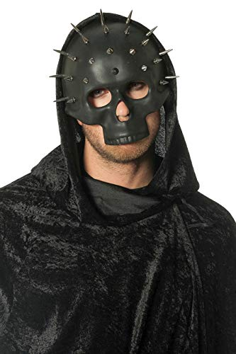en-Maske Totenkopf mit Stacheln Toten-Schädel Steam-Punk Grusel Horror Scary HochwertigEinheitsgröße Schwarz ()