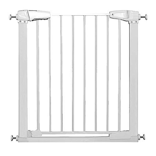 Sicher geschlossene Achse Druck Fit Sicherheitstor Haustür für Treppen Flur Eingang Baby Gates Höhe 76 cm passt Räume 77-173 cm breit Treppe (Farbe : Weiß, größe : 142-148cm) (Baby-gate Flur)