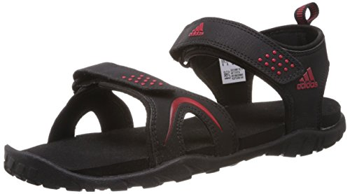 adidas Men's Esta Black and Light Scarlet Athletic & Outdoor Sandals - 11 UK  available at amazon for Rs.1999