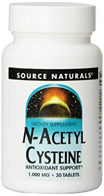 Source Naturals N-Acetyl Cysteine (1,000mg, 30 Tablets)
