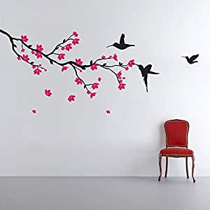 Buy decals design 39 hummingbirds and blossoms 39 wall sticker for Stickers juveniles