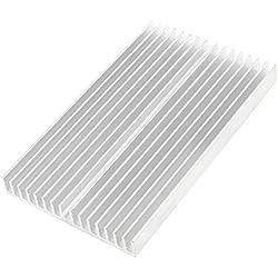 Disipador de calor - SODIAL(R)Tono de plata Enfriador de aluminio Radiador Disipador de calor 100x60x10mm