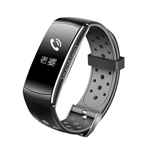 HermosaUKnight Q8 Smart Watch Echtzeit Pulsmesser Schrittzähler Sport Braclet (Nachricht Braclets)